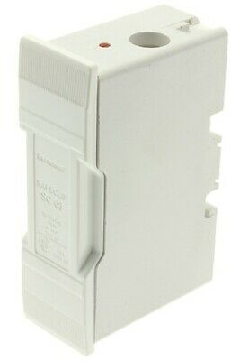 Bussmann FUSE HOLDER 96x58x30mm 63A 415V Front Wired, Safe Clip, White
