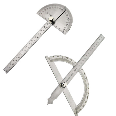 180 degree Stainless Steel Protractor Angle Finder Arm Measuring Ruler Tool New