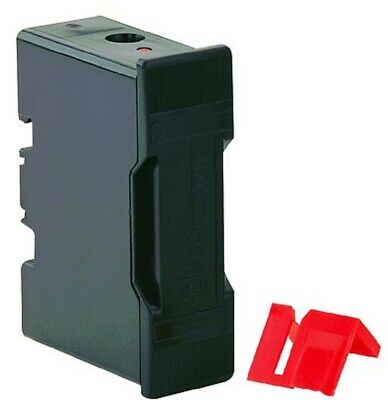 Bussmann SAFECLIP FUSE HOLDER 96x58x30mm 63A 415V Black-Back Stud Or Front Wired
