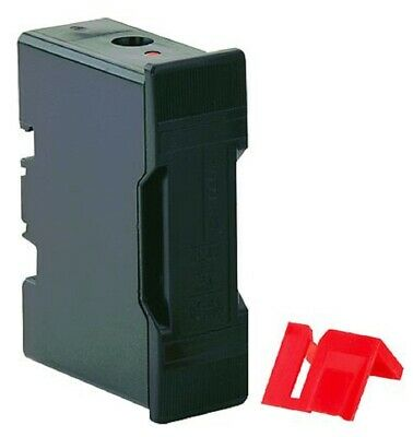 Bussmann SAFECLIP FUSE HOLDER 81x52x25mm 32A 415V Front/Stud, Black