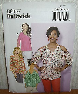 63cece8a Womens/Misses Loose Pullover Tops Sewing Pattern/Butterick B6457/SZ 6-14