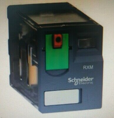 Schneider MINIATURE PLUG-IN RELAY 4xChangeover Contacts,Flat Pin-24VAC Or 230VAC