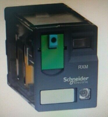 Schneider MINIATURE PLUG-IN RELAY 12A 2xC/O With LED, Flat Pin- 12VDC Or 24VDC