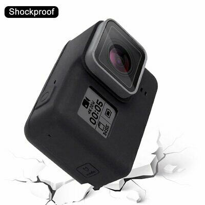 PULUZ Camera Silicone Protective Case with Lens Cover for Gopro Hero 5 Black