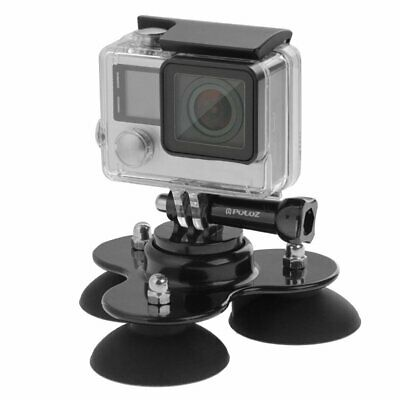 Triangle Suction Cup Mount Tripod with Screw for GoPro HERO 5 4 3+ 3 2 Camera