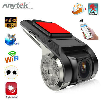 Anytek X28 FHD 1080P WiFi Car DVR Camera G-Sensor ADAS  Recorder Dash Cam 150°