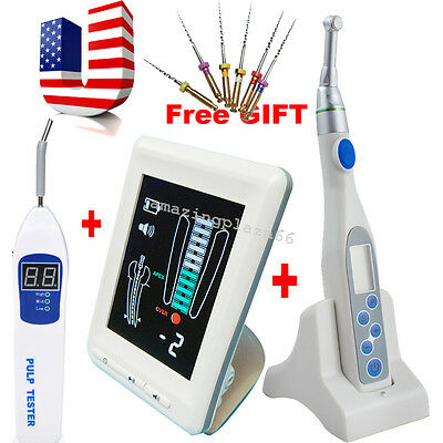 Dental Apex Locator Root Canal Endo motor treatment 16:1 Contra Angle+ tester CE