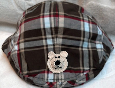GYMBOREE SUMMER GUY GREEN PLAID DRIVING CAP HAT 3 4 5 7 8 9 10 NWT