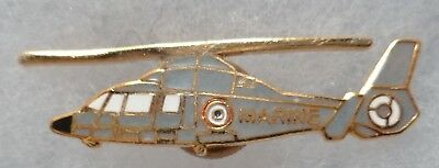 Insigne PIN'S AERONAVALE MARINE HELICOPTERE LYNX MINIATURE ORIGINAL émail FRANCE