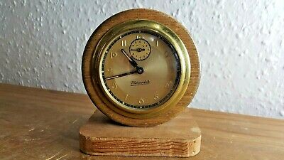 Vintage Framed Mechanical Alarm Clock - Mercedes Made in Germany  Working Order