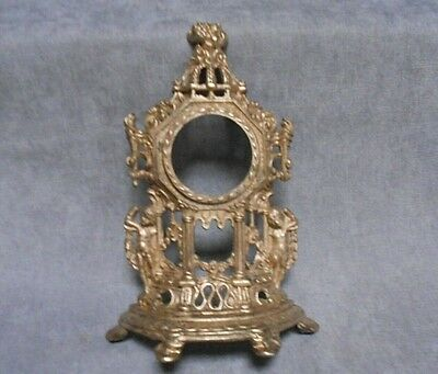 Vintage French  FIGURAL gilded Mantel CLOCK  w/ PUTTI