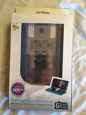 Playfect 5 High-Quality Screen Protectors with Squeegee Card for Nintendo 3DS