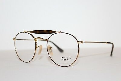 5db2940f000 New Authentic Ray-Ban Rb 3747V 2945 Havana Gold Frames Eyeglasses Rx 50Mm  Rb3747