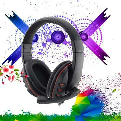 Gaming Headset Stereo Headphone 35mm Wired W/ Mic For PS4/PC/iPad/Mp3/4 AUF