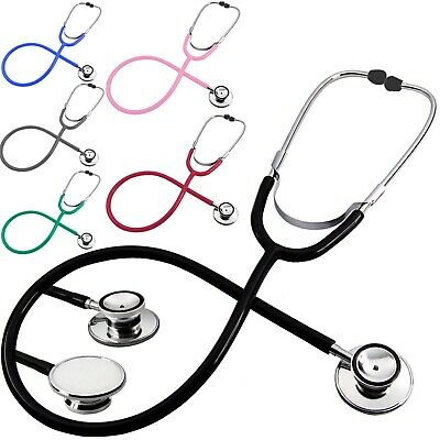 Dual Head Bell Chest Sound Stethoscope For Doctor Nurse Vet Student Health Care