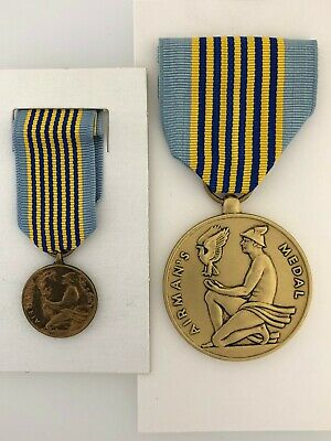 GENUINE Full Size United States Air Force Airmans or Air mans Medal