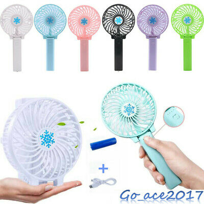Mini Portable Hand-held Desk Fan Cooling Cooler USB Rechargeable Air Conditioner