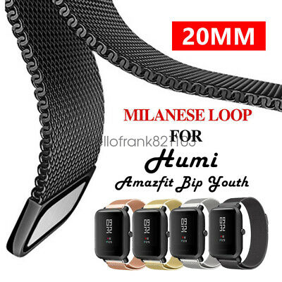 Replacement Stainless Steel Milanese Loop Wrist Band for Amazfit Bip Youth 20mm