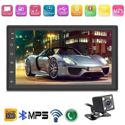 "Android 8.1 7"" Auto MP3 MP5 Player Stereo Radio Bluetooth GPS FM 2 DIN + Camera"