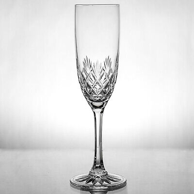 Edinburgh Crystal Kelso Champagne Flute Glass Signed 1sts - more available