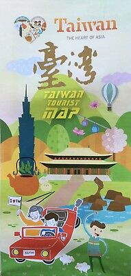 TAIWAN Tourist Map - Main Cities Close Up - Free UK Postage