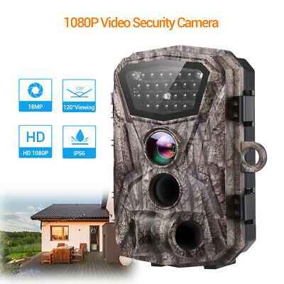 18MP 1080p Home Security Video Camera Trail Outdoor Motion Activated Anti Theft