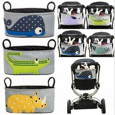 UK Baby Universal Stroller Pram Pushchair Buggy Organizer Storage Bag Cup Holder