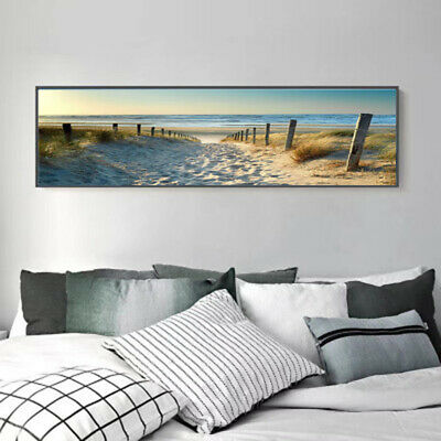 Decorative Painting Canvas Printing Wall Ocean Beach Nature Wind Poster Home
