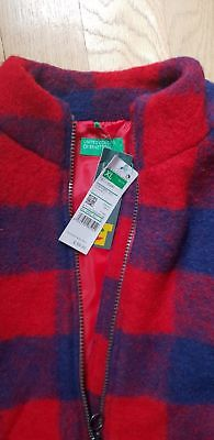 Benetton Genuine Girls Tartan Coat AGE 10-11 New with Tags. Christmas