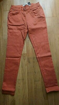 Next Ladies skinny soft touch jeans rust size 14 regular leg new without tags