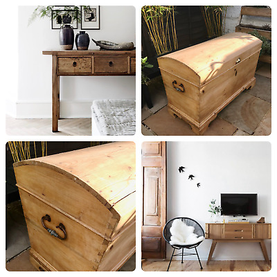 Victorian Pine Dome Toy Trunk Chest Solid Wood Storage Nursery CAN DELI