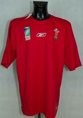 Wales World Cup 2007 National Training Rugby Shirt Reebok Size 2Xl Gc