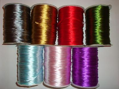 6yds RAT TAIL SILKY SATIN 2mm CORD - Great for macrame and crafts