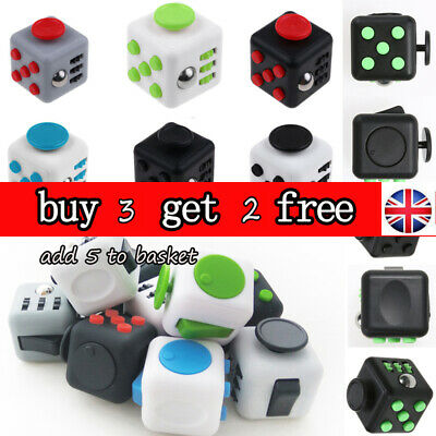 UK Fidget Cube Spinner Toy Children Desk Adults Stress Relief Cubes ADHD Camo AS