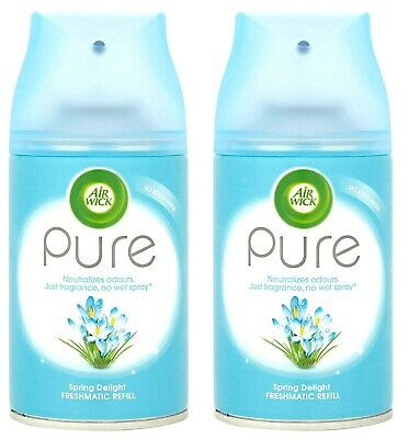 Air Wick 250 ml Spring Delight Pure Freshmatic Max Refill - Pack of 2! Mega Pack