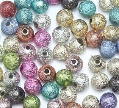 Beads Round Ball Spacer Findings Jewelry Making Fashion Mixed Stardust Acrylic