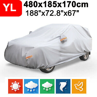 Large Waterproof Car Cover Outdoor Indoor Breathable Sun UV Dust Protection