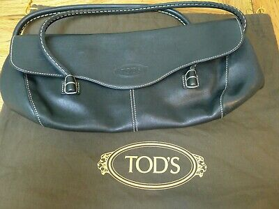 Tod's small black leather handbag