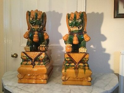 Foo Dogs Majestic Qing Dynasty Style. Absolutely Enormous.
