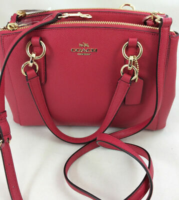 e9fe341d7 $350 Coach F57523 Mini Christie Carryall Satchel Handbag Crossbody Bright  Pink