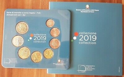 Italia KMS serie divisionale 2019 euro 8 coins blister official