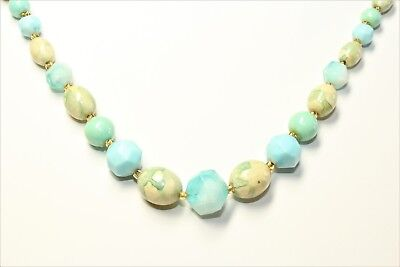 59B 2 x 32inch STRAND 6mm TURQUOISE PEARL ROUND GLASS BEADS~Bracelets~Necklace