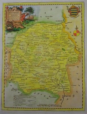 Antique map of Wiltshire by Thomas Kitchin 1760