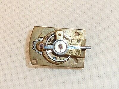 Old Very Tiny Miniature Carriage Clock Platform Escapement  24mm x 16.5mm