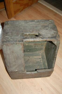 Bell Telephone System Dovetailed Green Wooden Splicers Lineman Stool Box Vintage