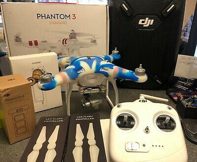 DJI Phantom 3 Standard Drone Quadcopter - Excellent Condition LOADS Of EXTRAS