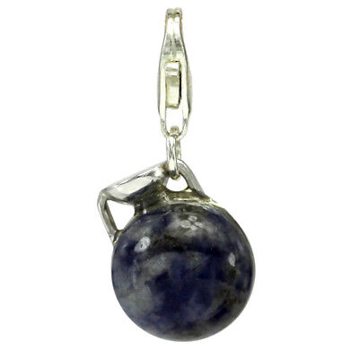 Ancient Greek Style Lapis Lazuli Aryballos Vase Charm by Privilege #2956ll