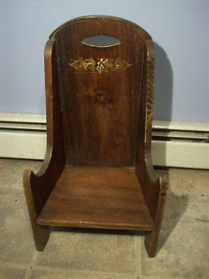 Vintage/ Antique Solid Wood  Child Chair / Doll Chair