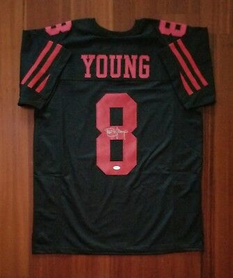 e97c60fb4 STEVE YOUNG SIGNED Autographed San Francisco 49ers Custom Jersey XL ...