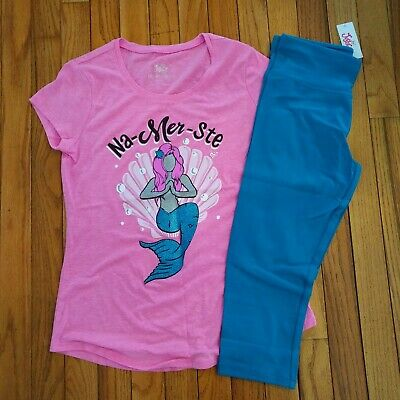 NWT Justice Girls Justice Mermaid Top/Cropped Leggings Size 8 10 12 14 16